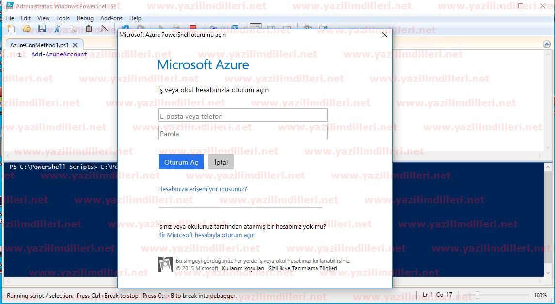 Azure Powershell Login