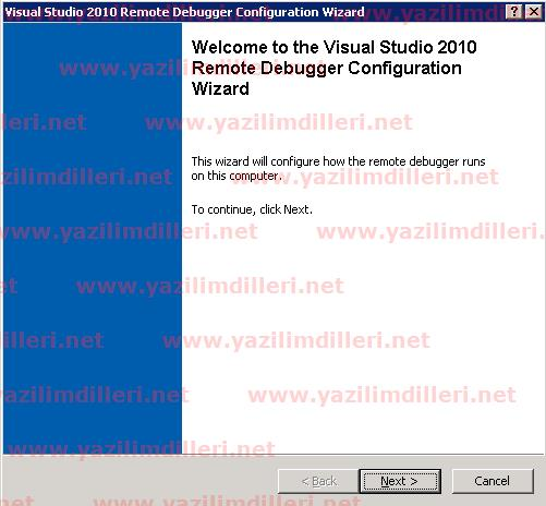 Visual Studio 2010 Remote Debugger Configuration Wizard