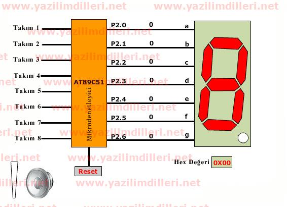 8 button exam buzzer at89c51