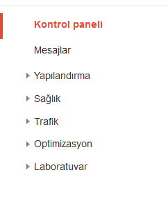 google web yöneticisi kontrol panel